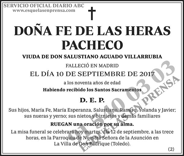 Fe de las Heras Pacheco